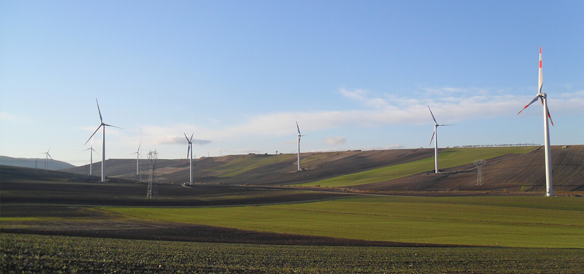 LEITWIND SPA: wind park Deliceto in Apulia, Italy with 16 LTW80 1.5 MW wind turbines