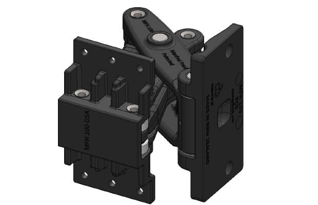 MFH 100 with Door Mount D05 (Mortised Insert Mounting)