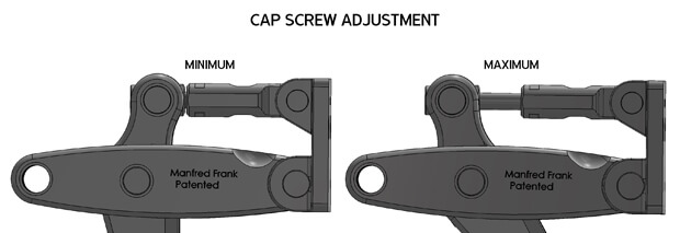 Cap Screw Mechanism for Sideways & Compression Adjustment (MFH 300 Only)