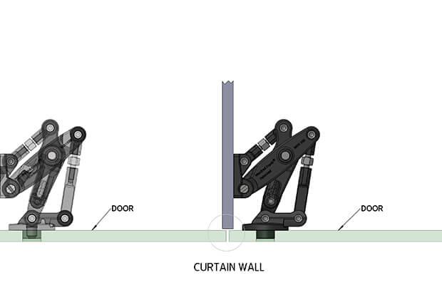 Curtain-Wall hinge installation