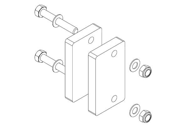 Example of a Frame Kit (Includes spacers, bolts, nuts and washers)