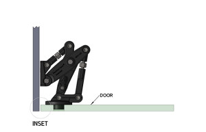 Inset installation of Manfred Frank heavy duty hinges