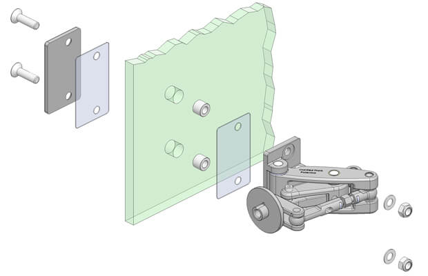 Glass Mounting with a Backing Plate